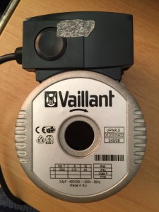 vaillant ecoTEC faulty pump