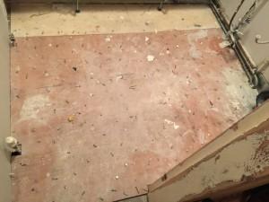 gas leak under floorboards