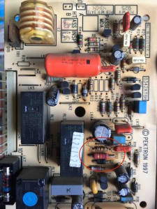 potterton promax 15he ignition printed circuit board